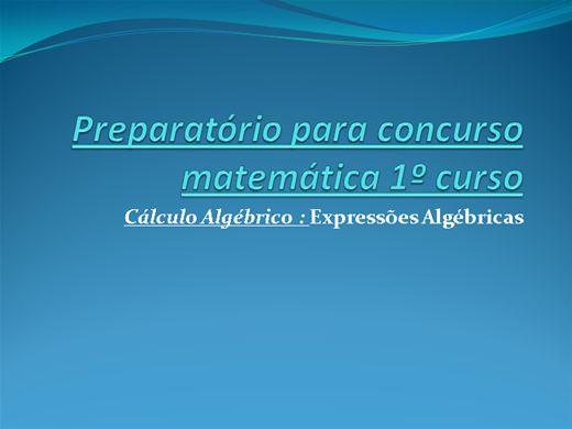 Curso Online de Preparatório para concurso matemática 1º curso