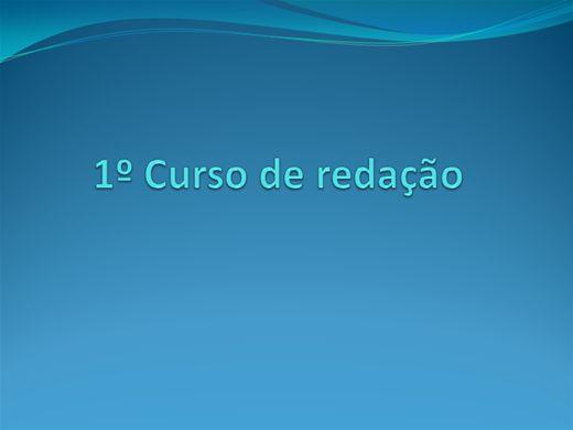 Curso Online de CURSO DE REDAÇÃO 1