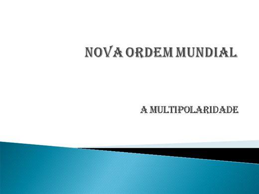 Curso Online de NOVA ORDEM MUNDIAL