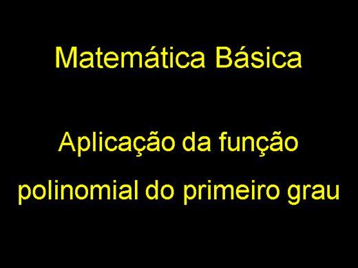 Curso Online de Matemática: Aplicação de Função