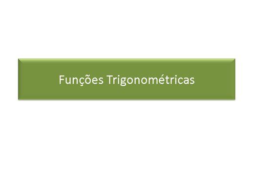 Curso Online de Matemática: Funções Trigonométricas