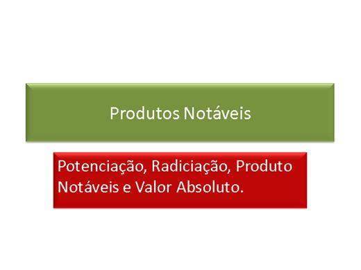 Curso Online de Metemática:Produtos Notavéis,Propriedades de Funções e Funções Quadrática