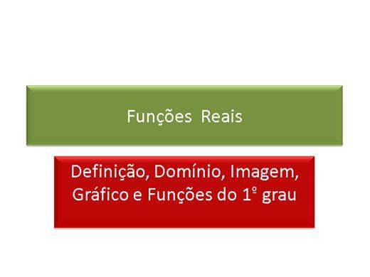 Curso Online de Matemática: Funções:Definição, Exemplos , Propriedades e Composição de Funções