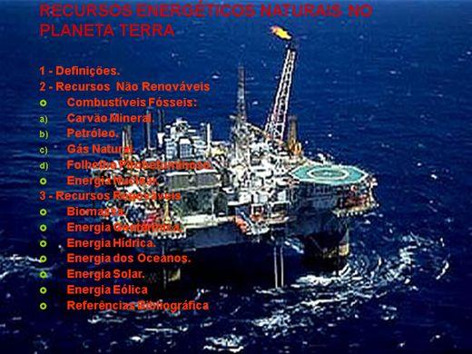 Curso Online de RECURSOS ENERGÉTICOS NATURAIS NO PLANETA TERRA
