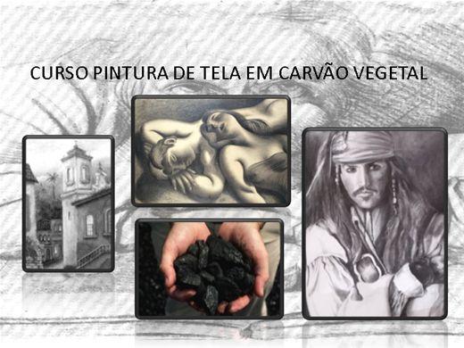 Curso Online de PINTURA CARVÃO VEGETAL SOBRE TELA