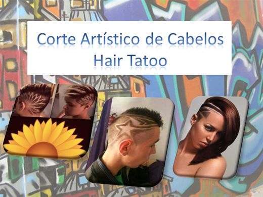 Curso Online de Corte Artístico de Cabelos Hair Tatoo