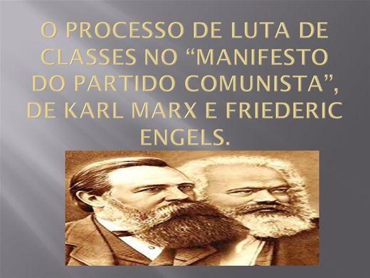 Curso Online de O PROCESSO DE LUTA DE CLASSES NO ?MANIFESTO DO PARTIDO COMUNISTA?, DE KARL MARX E FRIEDERIC ENGELS.