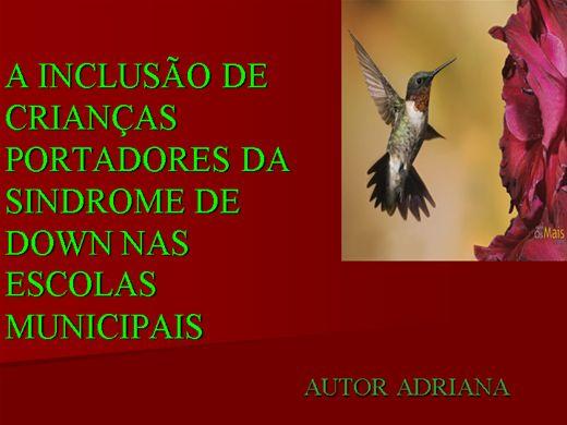 Curso Online de A INCLUSÃO DE CRIANÇAS PORTADORES DA SINDROME DE DOWN NAS ESCOLAS MUNICIPAIS