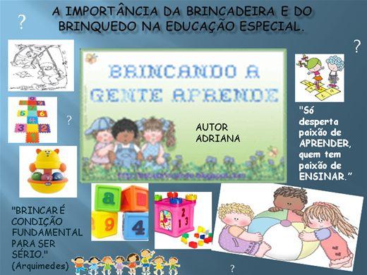 Curso Online de A Importância DA BRINCADEIRA E DO BRINQUEDO NA EDUCAÇÃO ESPECIAL.