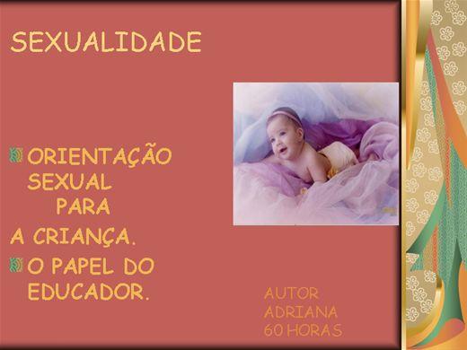 Curso Online de ORIENTAÇÃO SEXUAL PARA A CRIANÇA. O PAPEL DO EDUCADOR.
