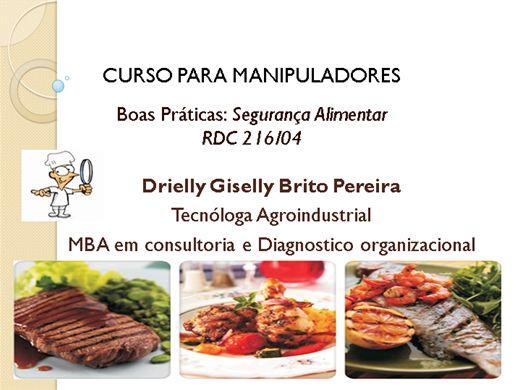 Curso a dist ncia de curso para manipuladores rdc 216 04 - Certificado de manipulador de alimentos gratis online ...
