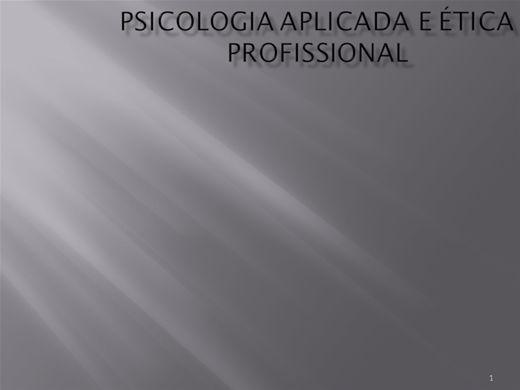 Curso Online de Psicologia Aplicada a ètica profissionaltica