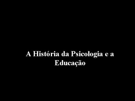 Curso Online de A Historia da Psicologia ea Educação