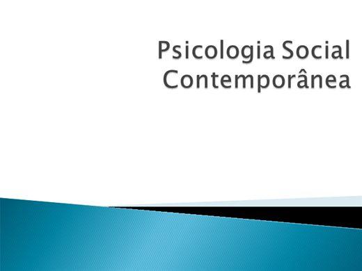 Curso Online de Psicologia Social Contemporânea