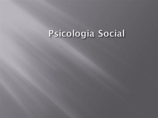 Curso Online de Psicologia Social