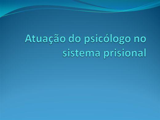 Curso Online de Atuação do Psicologo no Sistema prisional