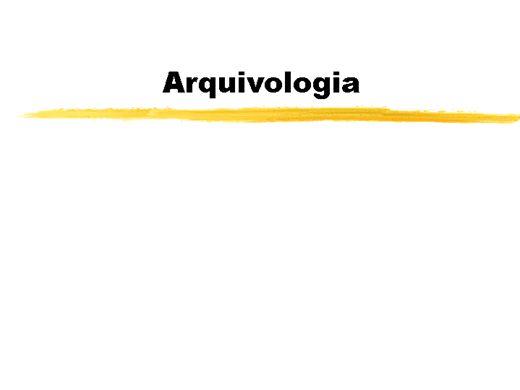 Curso Online de Introdução a Arquivologia