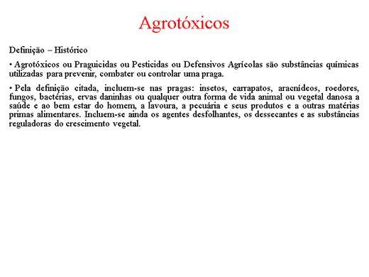 Curso Online de Agrotóxicos