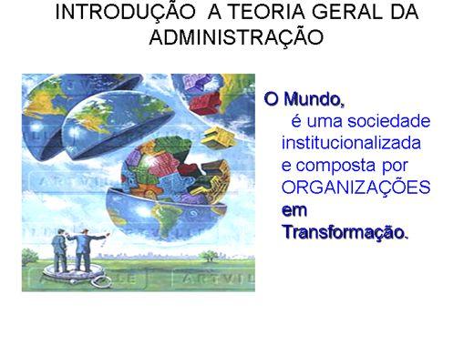 Curso Online de INTRODUÇÃO  A TEORIA GERAL DA ADMINISTRAÇÃO