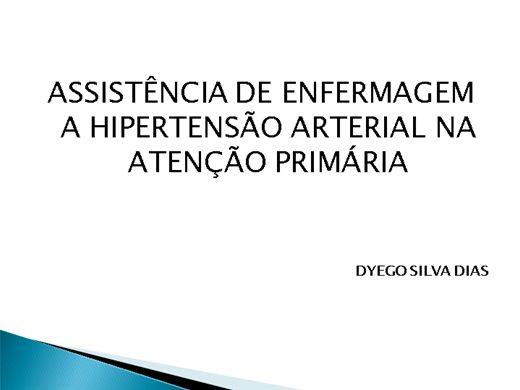 Curso Online de ASSISTÊNCIA DE ENFERMAGEM A HIPERTENSÃO ARTERIAL NA ATENÇÃO PRIMÁRIA