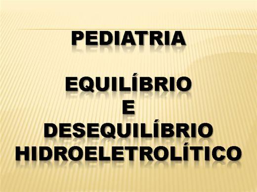 Curso Online de Pediatria Equilibrio e Desequilibrio Eletrolitico