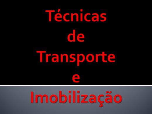 Curso Online de Técnicas de Transporte e Imobilização