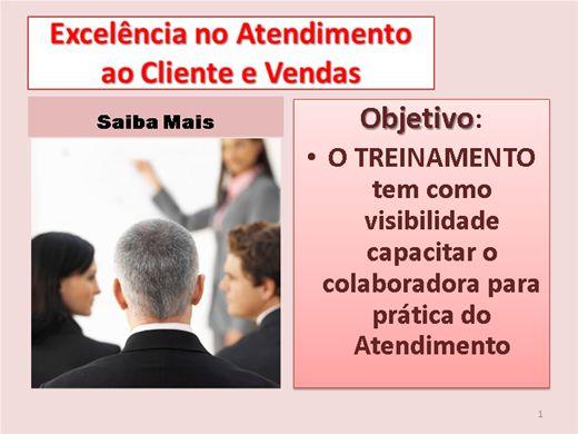 Curso Online de EXCELENCIA NO ATENDIMENTO AO CLIENTE E VENDAS