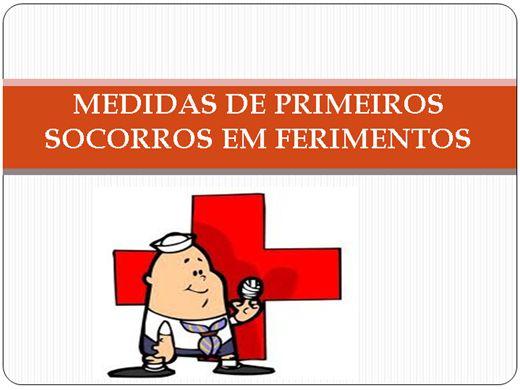Curso Online de MEDIDAS DE PRIMEIROS SOCORROS EM FERIMENTOS AVANÇADO