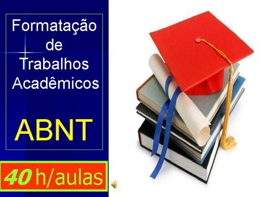Curso Online de Formatação de Trabalhos Acadêmicos ABNT (40 h/aula)