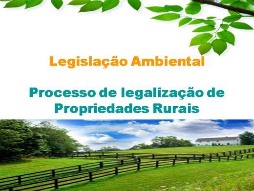 Curso Online de Legislação Ambiental - Processo de legalização de Propriedades Rurais