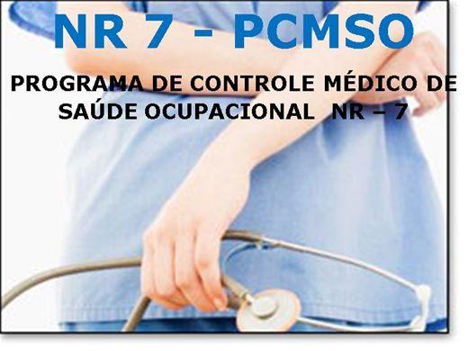 Curso Online de NR 7 - PCMSO - Programa de Controle Médico de Saúde Ocupacional