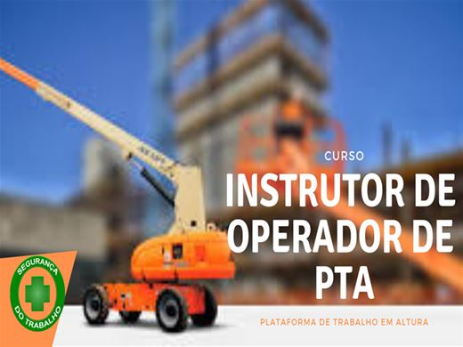 Curso Online de Formação de Instrutor de PTA - Plataforma de Trabalho Aérea