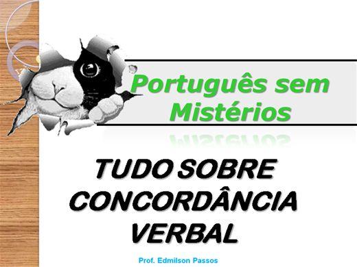 Curso Online de TUDO SOBRE CONCORDÂNCIA VERBAL