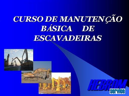 Curso Online de Manutenção Básica de Escavadeiras