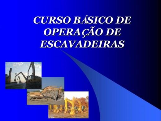 Curso Online de Operação de Escavadeiras