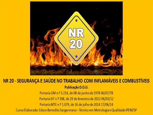 Curso Online de RECICLAGEM - NR 20 - COM AVALIAÇÃO FINAL