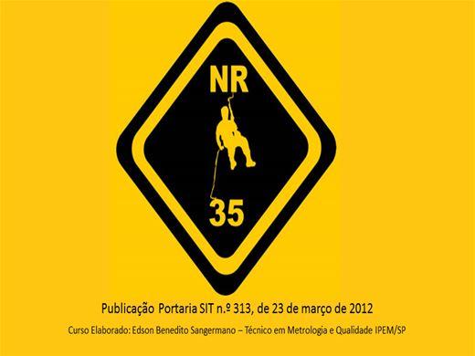 Curso Online de RECICLAGEM - NR 35 - COM AVALIAÇÃO FINAL