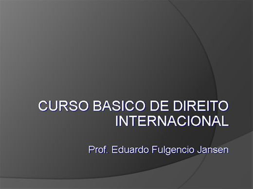 Curso Online de Curso de Direito internacional