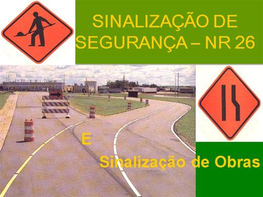 Curso Online de NR 26 - Sinalização de Segurança e Sinalização em Obras