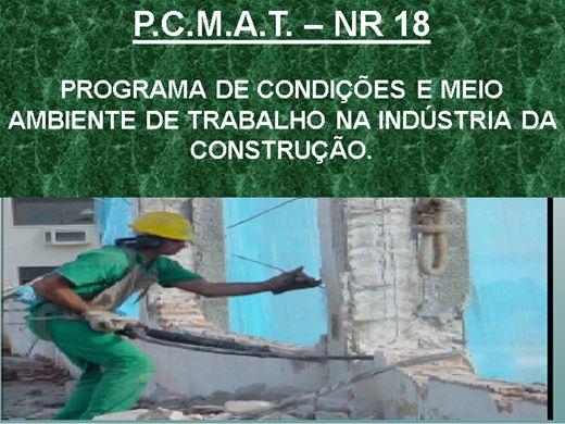 Curso Online de PCMAT - PROGRAMA DE CONDIÇÕES E MEIO AMBIENTE DE TRABALHO NA INDÚSTRIA DA CONSTRUÇÃO - NR 18