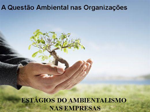 Curso Online de Gestão Ambiental -  A Questão Ambiental nas Organizações