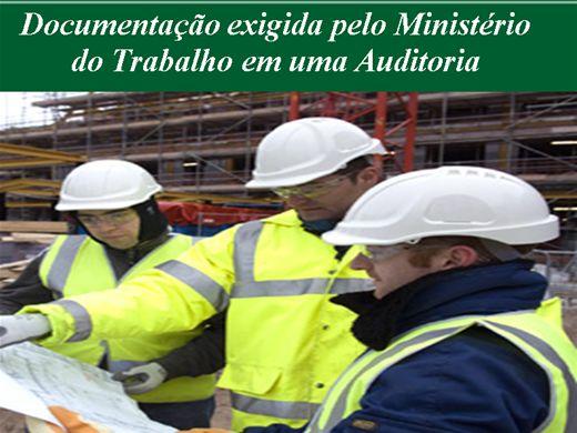 Curso Online de Documentação exigida pelo Ministério do Trabalho em uma Auditoria