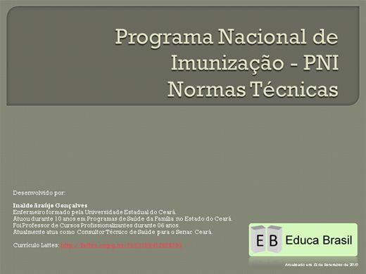 Curso Online de Programa Nacional de Imunização - Normas Técnicas