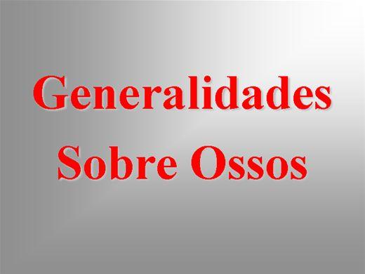 Curso Online de Generalidades sobre os Ossos