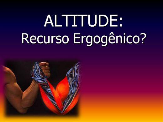 Curso Online de Altitude X Exercício Físico