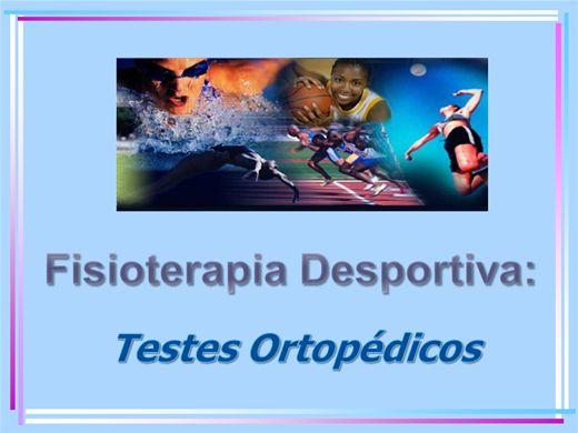 Curso Online de Fisioterapia Desportiva: Testes Ortopédicos