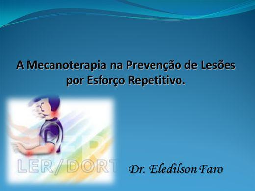 Curso Online de A Mecanoterapia na Prevenção de Lesões por Esforço