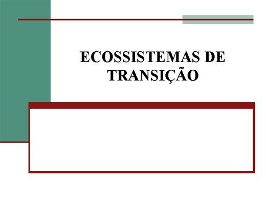 Curso Online de Ecossistemas de Transição
