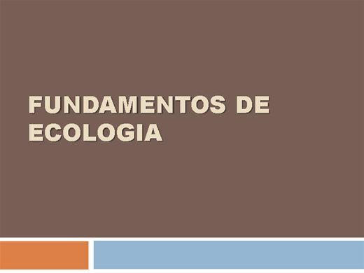Curso Online de Fundamentos em Ecologia