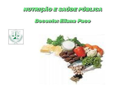Curso Online de Nutrição em Saúde Pública